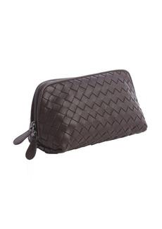 Bottega Veneta ebony intrecciato leather small cosmetics case