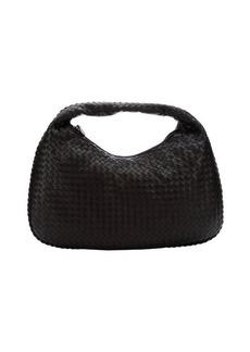 Bottega Veneta ebony intrecciato leather 'Veneta' hobo bag