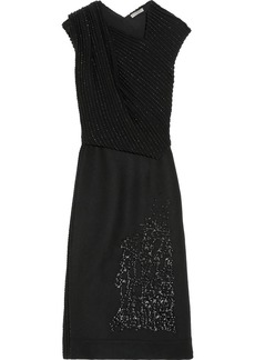 Bottega Veneta Embroidered wool and cashmere-blend dress