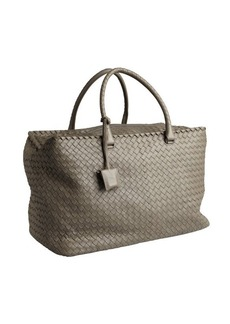 Bottega Veneta grey intrecciato nappa leather 'Brick' large tote