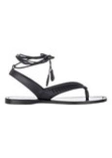 Bottega Veneta Intrecciato-Inset Ankle-Wrap Sandals