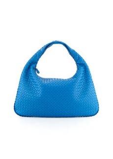 Bottega Veneta Intrecciato Large Hobo Bag, Indigo
