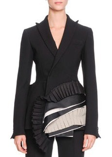 Bottega Veneta Layered-Ribbon-Detail Jacket