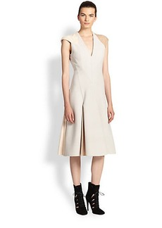 Bottega Veneta Leather-Insert Dress