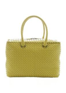 Bottega Veneta new chartrose intrecciato leather large top handle bag
