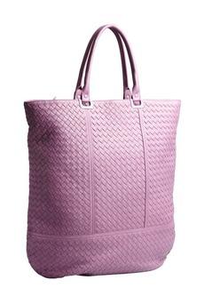 Bottega Veneta purple intrecciato leather shopper tote