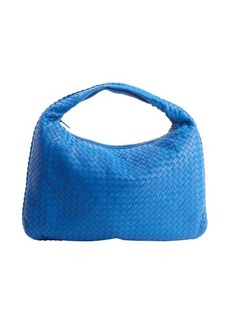 Bottega Veneta signal blue intrecciato leather 'Veneta' large hobo