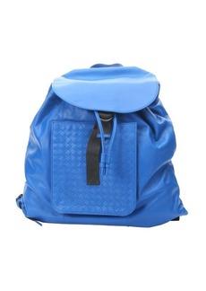Bottega Veneta signal blue leather backpack