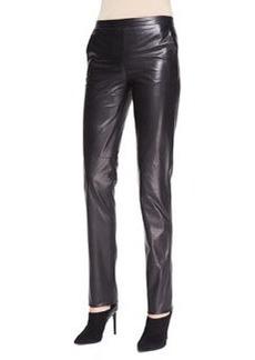 Bottega Veneta Skinny Leather Pants, Black