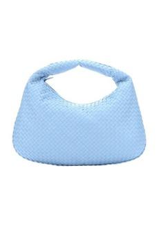 Bottega Veneta sky intrecciato leather 'Veneta' hobo bag
