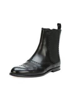 Bottega Veneta Spectator Leather Ankle Boot, Black