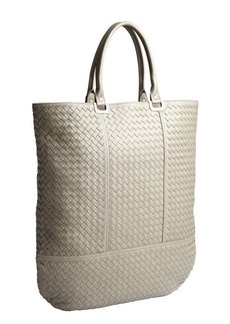 Bottega Veneta taupe intrecciato leather shopper tote