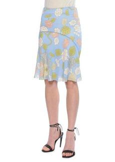 Bottega Veneta Waist-Stitch Bias Skirt