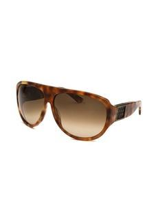 Bottega Veneta Women's Aviator Havana Sunglasses