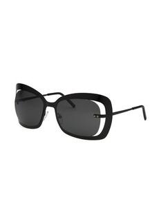 Bottega Veneta Women's Butterfly Black Sunglasses