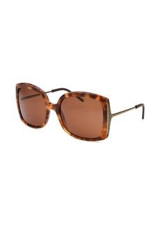 Bottega Veneta Women's Butterfly Havana Sunglasses