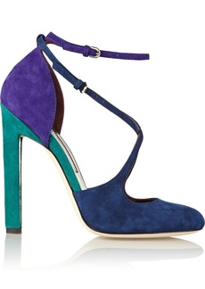 Brian Atwood Color-block suede pumps