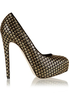 Brian Atwood Maniac embellished suede pumps