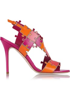 Brian Atwood Sommer color-block leather sandals