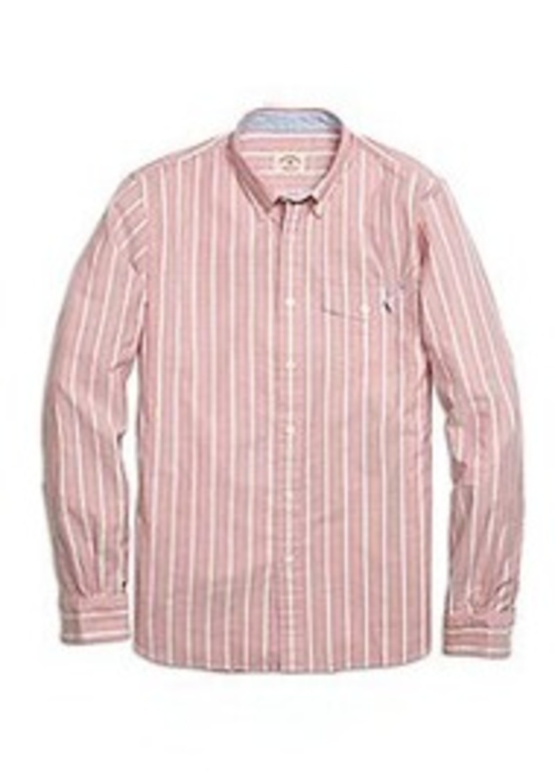 Brooks Brothers Alternating Frame Stripe Sport Shirt