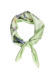 Brooks Brothers FLORAL SCARF LIME