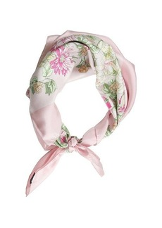 Brooks Brothers FLORAL SCARF PINK