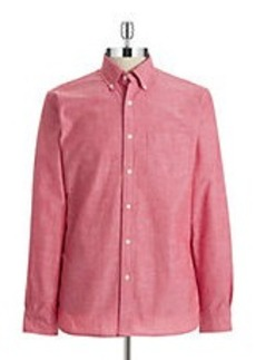 BROOKS BROTHERS RED FLEECE Hi-Lo Chambray Sportshirt