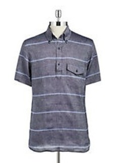 BROOKS BROTHERS RED FLEECE Linen and Cotton Polo