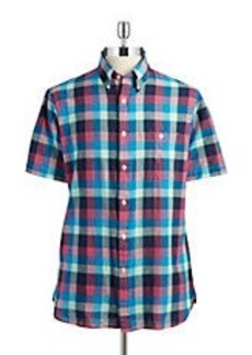 BROOKS BROTHERS RED FLEECE Plaid Cotton Sportshirt