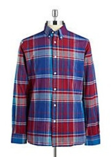 BROOKS BROTHERS RED FLEECE Plaid Cotton Sportshirt