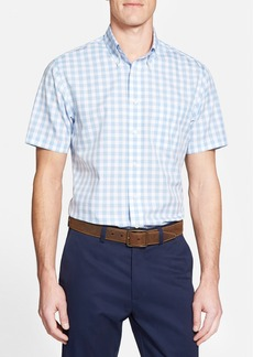 Brooks Brothers Regent Fit Short Sleeve Gingham Sport Shirt