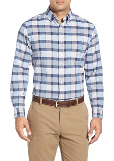 Brooks Brothers Slim Fit Heathered Chambray Plaid Sport Shirt