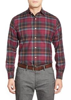 Brooks Brothers Trim Fit Long SleevePlaid Twill Sport Shirt