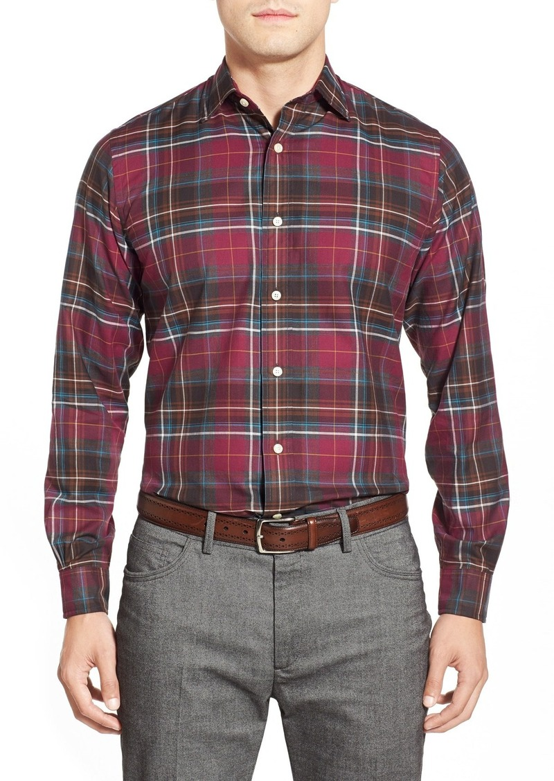 Brooks Brothers Brooks Brothers Trim Fit Long Sleeve Plaid