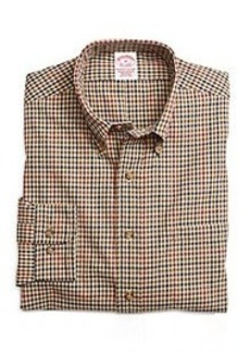 BrooksFlannel® Regular Fit Mini Check Sport Shirt