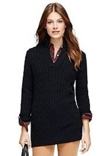 Cashmere Cable Tunic Sweater