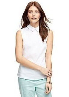 Cotton Blend Sleeveless Shirt