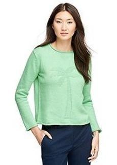 Cotton Crewneck Palm Tree Sweater