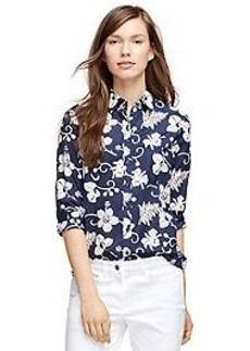 Cotton Hibiscus Print Shirt