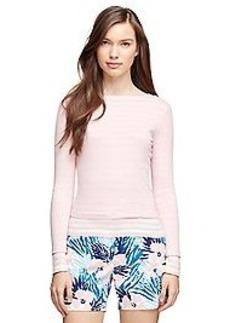Cotton Stripe Crewneck Sweater