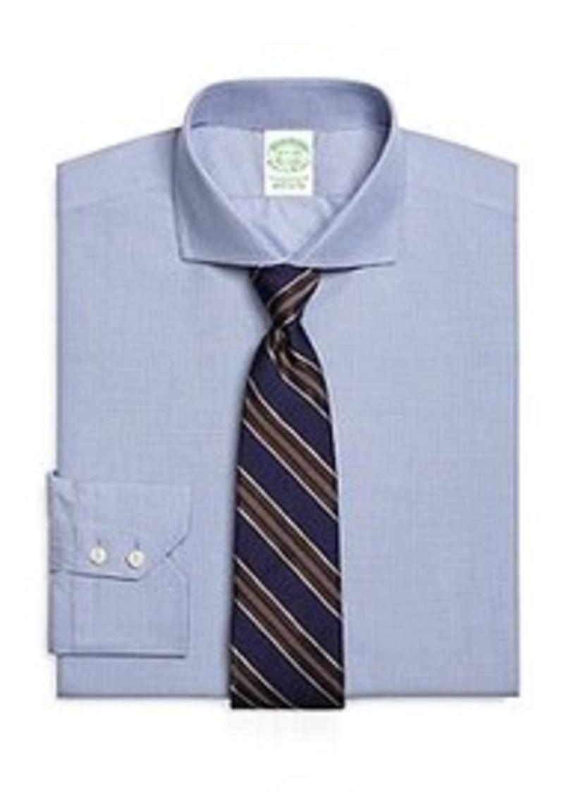 Brooks brothers extra slim fit mini check dress shirt for Extra slim dress shirt