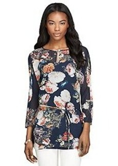 Floral Silk Georgette Tunic