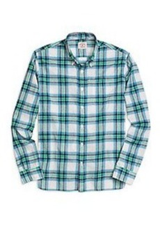Green Madras Sport Shirt