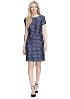 Jacquard Short-Sleeve Dress