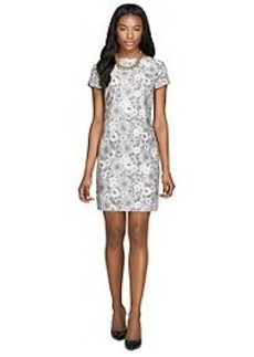 Lace Overlay Cotton Sheath Dress