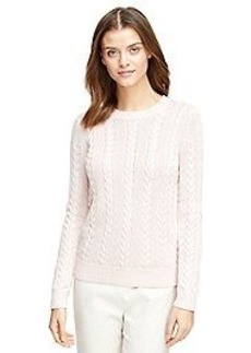 Long-Sleeve Cable Sweater