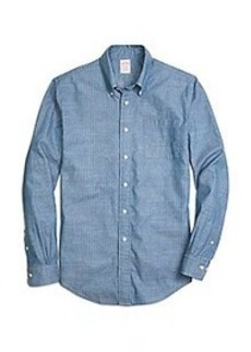 Madison Fit Chambray Anchor Sport Shirt