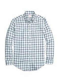 Madison Fit Gingham Linen Sport Shirt