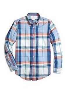 Madison Fit Light-Blue Madras Sport Shirt