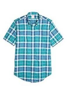 Madison Fit Madras Short-Sleeve Sport Shirt